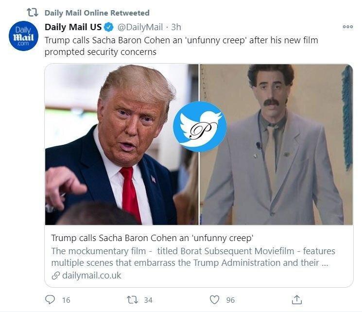 عصبانیت ترامپ و دار و دسته از فیلم جدید برات: او احمقی ست که خیال می نماید باحال است